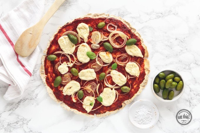 Pizza Margherita vegan glutenfrei